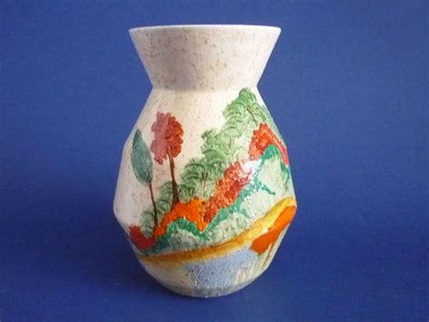 clarice cliff bizarre patina country  vase