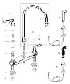 american standard kitchen faucet repair american standard 4275 551 parts list and diagram ereplacementparts