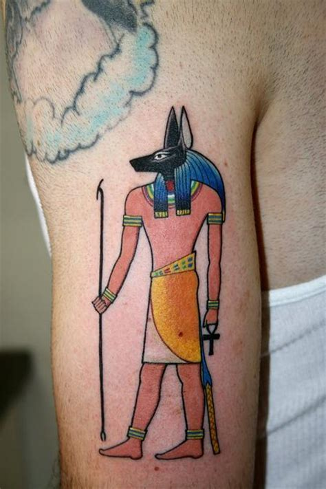 traditional anubis tattoos
