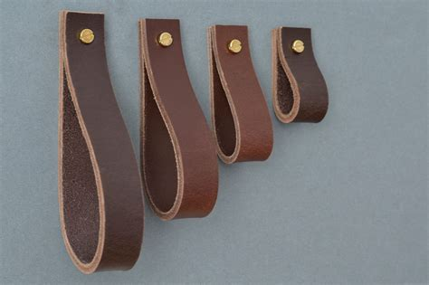 Lade Pl by Lade 4 Brown Leather Furniture Pull Leather Pulls