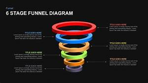 6 Stage Funnel Diagram Powerpoint Template And Keynote Slide