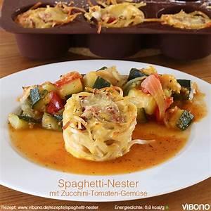 Zucchini Tomaten Gemüse : spaghetti nester mit zucchini tomaten gem se vibono ~ Whattoseeinmadrid.com Haus und Dekorationen