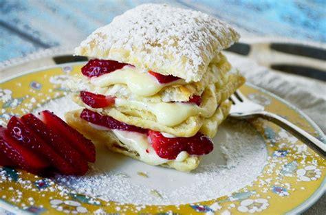 Strawberry Napoleons Go Go Go Gourmet