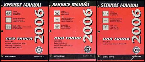 car repair manual download 2013 gmc yukon head up display 2006 ck suv repair shop manual set avalanche suburban tahoe denali xl yukon escalade esv ext