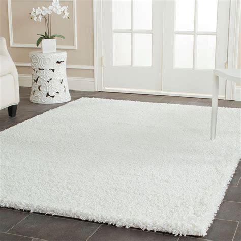white area rug safavieh california shag white 8 ft x 10 ft area rug