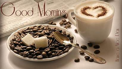 Morning Wallpapers Wishes Background Coffee Backgrounds Heart