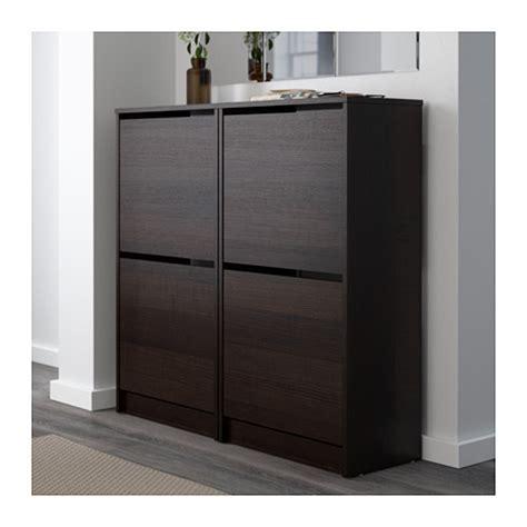 bissa shoe cabinet 2 compartment brown black furniture
