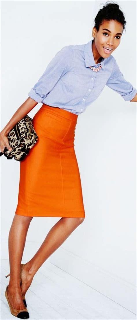 25+ best ideas about Orange skirt on Pinterest | Orange skirt outfit Orange pencil skirts and ...