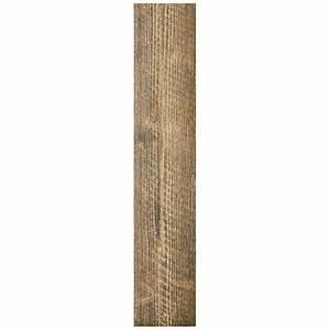 Shop Interceramic Sunwood 12-Pack Cowboy Brown Wood Look ...