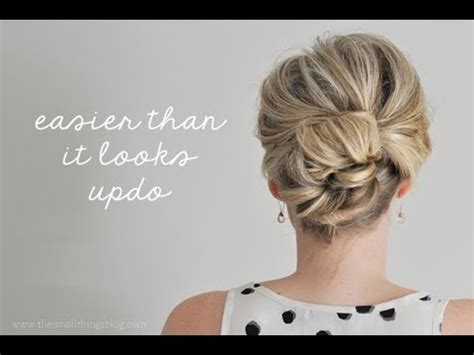 easy updos for short hair to do yourself hairstyle ideas