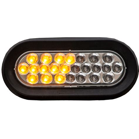 "Buyers Sl66ac 612"" Oval Amberclear Led Strobe Light"