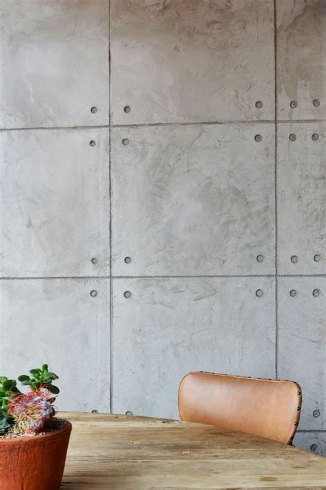 Concrete Feature Wall Panels Artful Design Ideas For Bedroom by New Doppio Zero Featuring Cemcrete Shutter Cemplaster