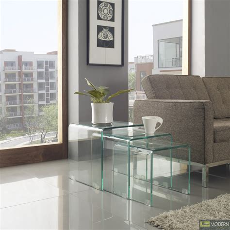 pc glass nesting coffee tables