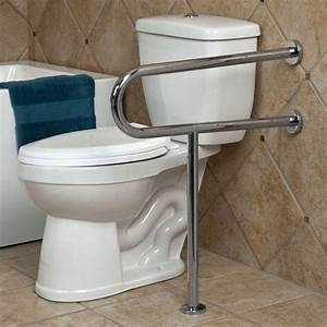 pickens u shape grab bar with leg support bathroom With bathroom support bars