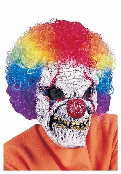 Clown Scary Mask Evil Killer Wig Horror