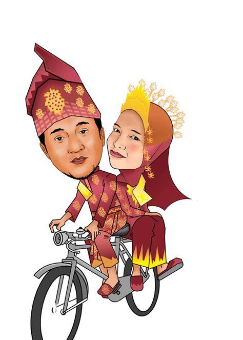 gambar pesan karikatur murah pengantin daerah gambar