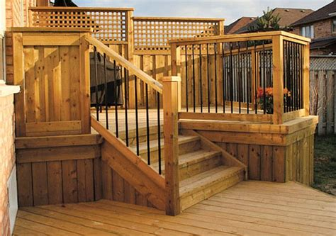 Home Depot Deck Designer Canada by Deck Fence Designs Deck Fence Ideas Decking