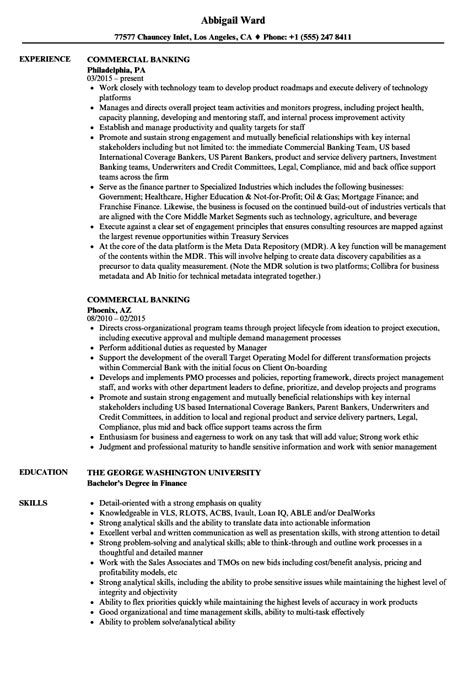 Banking Resume by Commercial Banking Resume Bijeefopijburg Nl