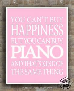 Piano Inspirational Quote Poster guitarist by InkistPrints ...