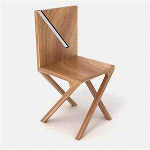 Wooden chair with unusual legs position walking chair for Wooden chair leg designs
