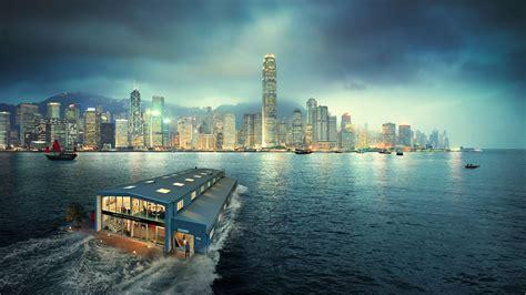 wallpaper hong kong cityscape  world
