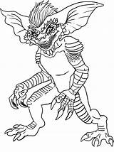 Coloring Pages Ghostbusters Draw Gremlins sketch template