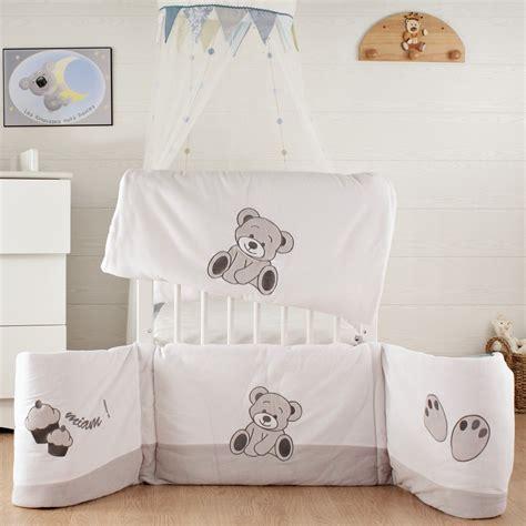 tour de lit bebe mixte soldes tour de lit b 233 b 233 mixte en velours blanc kinousses kinousses