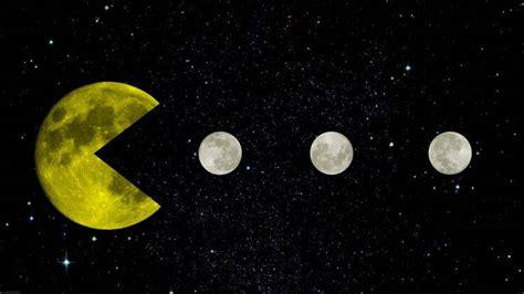 pac man yellow space moon moon stars black retro