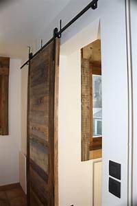 Porte Coulissante En Bois : porte coulissante bois massif ~ Melissatoandfro.com Idées de Décoration