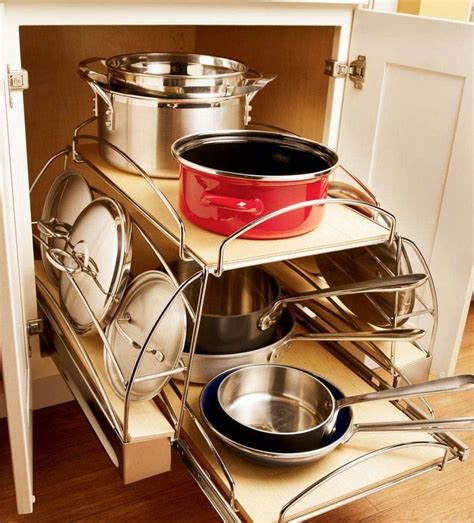 kitchen storage for pots and pans kraftmaid kitchen innovations pgt cabinets 9597