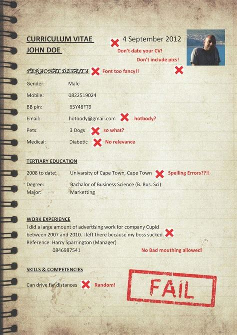 top tips    write  curriculum vitae cv luckysters