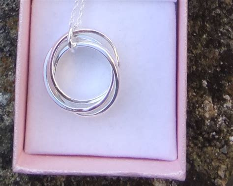sterling silver russian wedding ring necklace three ring