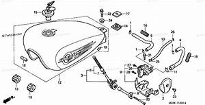 Honda Motorcycle 2000 Oem Parts Diagram For Fuel Tank