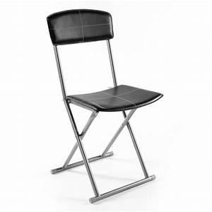 Chaise Pliante Noire : chaise pliante pvc noir decoandgo ~ Teatrodelosmanantiales.com Idées de Décoration