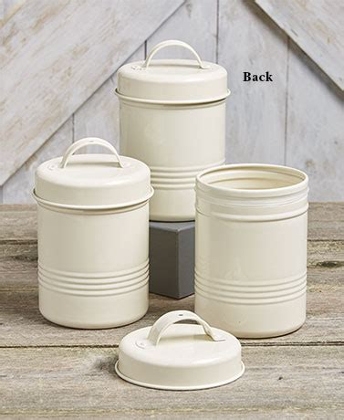 kitchen storage tin set sets of 3 vintage metal canisters ltd commodities 6198
