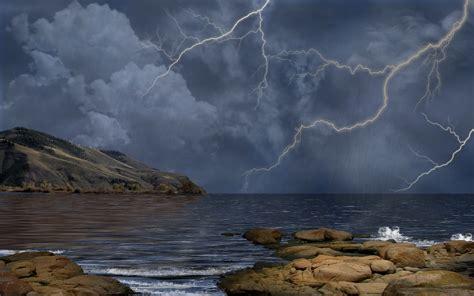 thunderstorm backgrounds wallpapersafari