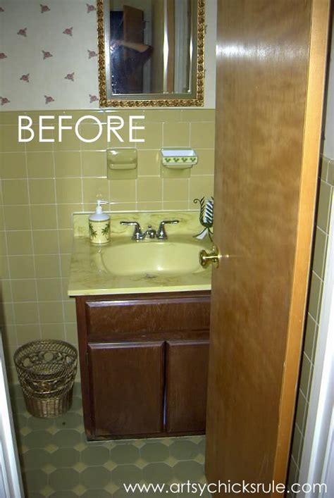 bath cabinet makeover   lighting artsy chicks rule