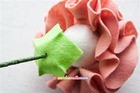 come creare fiori feltro come fare un grazioso vaso con fiori in feltro