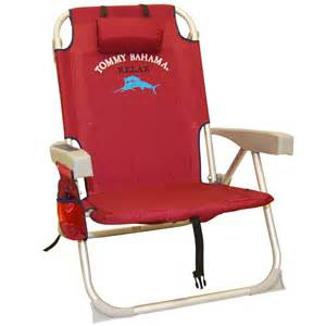 new tommy bahama beach chair red with cooler storage pouch