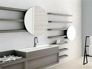 Miroir Rond Salle De Bain : le miroir salle de bains en 17 exemples modernes ~ Nature-et-papiers.com Idées de Décoration