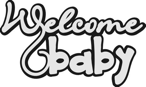 Cricut projects inspiration using our free svg files! Scrapcation Getaway: Welcome Baby SVG Freebie