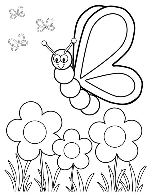 best 25 preschool coloring pages ideas on 381 | 6356d89a4bea0fb996568f04951a39ff butterfly crafts for kids printables butterfly crafts for preschoolers