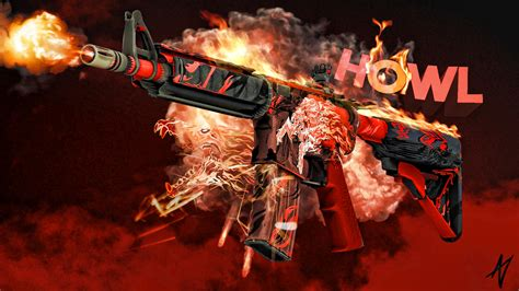 Cs Go Awp Wallpaper M4a4 Howl Cs Go Wallpapers And Backgrounds