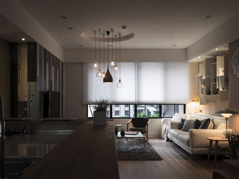 a warm home in taiwan with a cozy reading nook