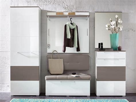 rene garderoben kombination weiss hochglanz weiss hg grau