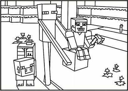 Minecraft Coloring Pages Herobrine Mobs Creeper Printable