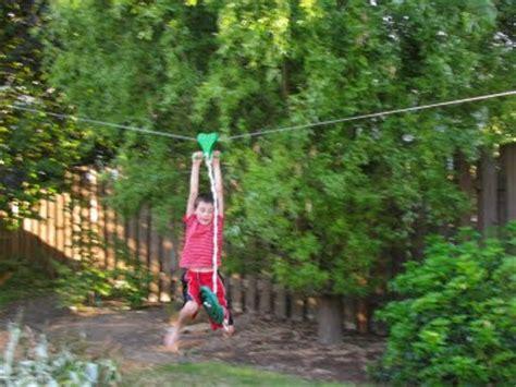 Zipline For Backyard by Bob S Grand Adventures Backyard Fort Zip Line