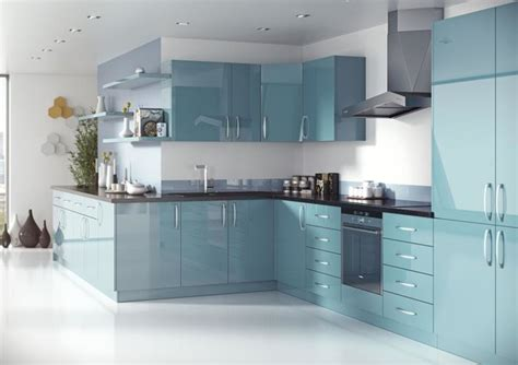 blue gloss kitchen cabinets zenit modern slab mirror gloss marmara blue modern 4811