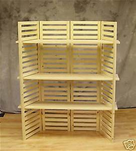 """Display Shelf, Portable with (3) Shelves 4 Panels 58"""" T"""