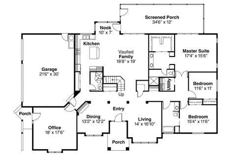 mission floor plans mission house plan house and home design